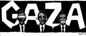 Obama's silence on Gaza by Seth Tobocman