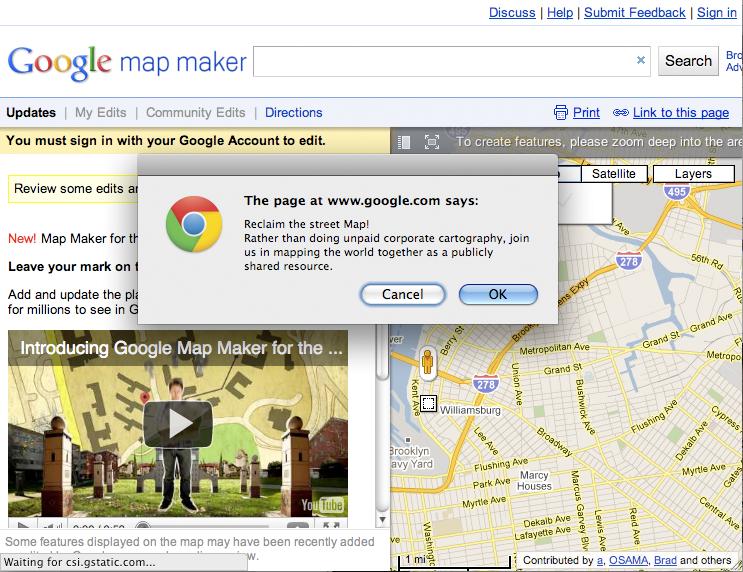 Reclaim the Street Map!