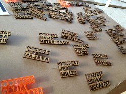 Best nametags ever! Each of them a custom laser-cut…